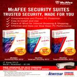 McAfee Antivirus Plus 2013, Mcafee Internet Security 2012, Mcafee Total Protection 2012