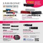 Nubox Jawbone Speakers Jambox Wireless Speakerphone, Big Jambox, Era Bluetooth Headset, Icon HD