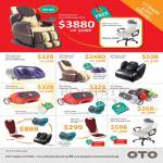 OTO Massage Chairs Dante One Zero-G, Power Flex, Adelle One, Power Foot, Mbraze, E-Lux, Power Chair