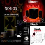 Pertama Klipsch Sonos Wireless Hifi System, Play, Bridge, Promedia 2.1 Speakers