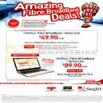 Singtel Broadband Fibre 150Mbps, Fixed Line, 200Mbps Free Acer Aspire V5 Touch 15.6 Notebook