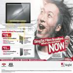 Singtel Broadband Fibre 300Mbps, ADSL 15Mbps Free Apple Macbook Pro Notebook