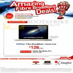 Singtel Broadband Fibre 300Mbps, Fixed Line, 21Mbps Mobile Broadband, Free Apple Macbook Pro
