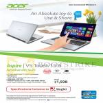 Singtel Free Acer Aspire V5 Touch 15.6 Notebook Specifications
