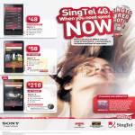 Singtel Mobile Phones Sony Xperia J, Sony Xperia V, Sony Xperia Z