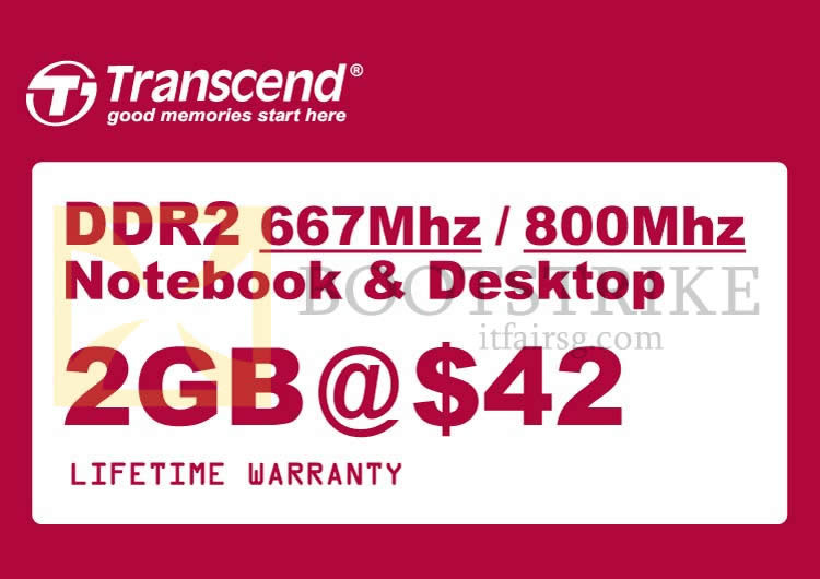 IT SHOW 2014 price list image brochure of Convergent RAM Transcend DDR2 2GB