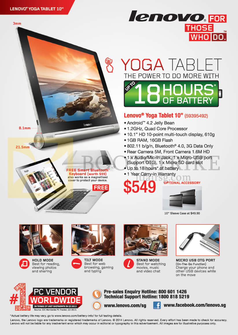 Lenovo yoga tablet 10 features it show 2014 price list for O tablet price list 2014