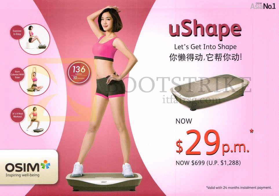 IT SHOW 2014 price list image brochure of Osim UShape