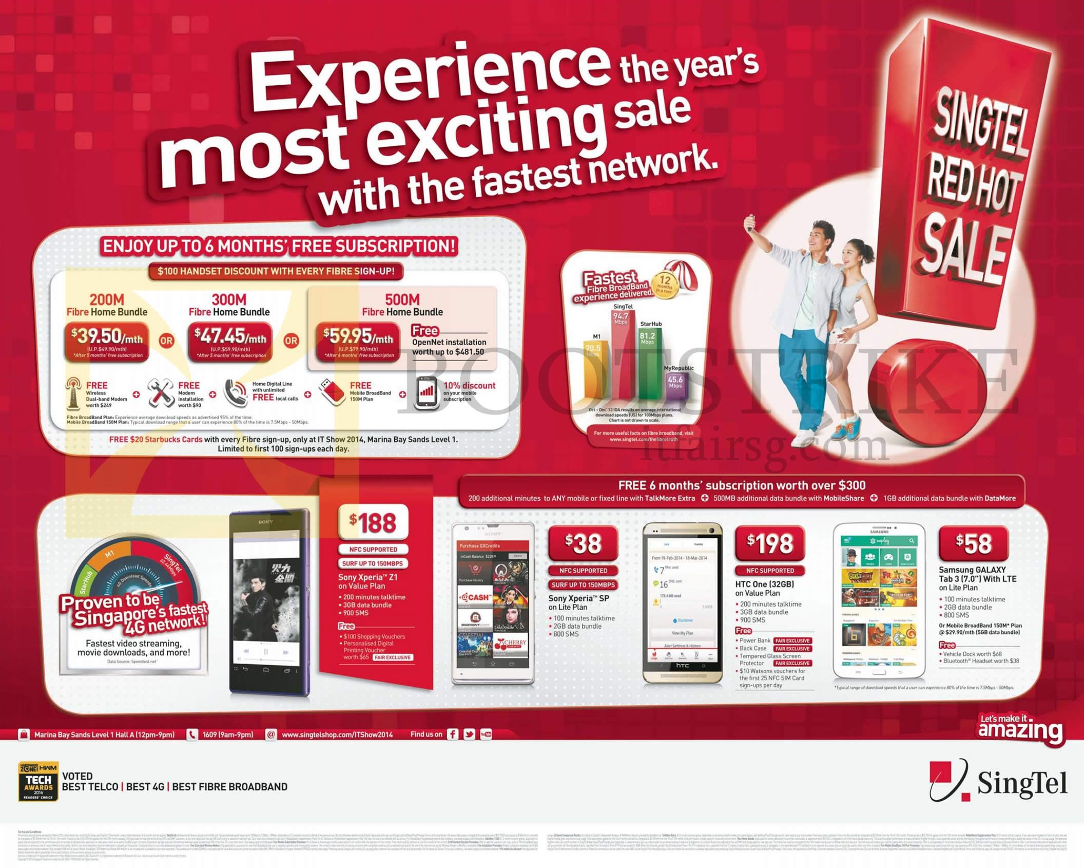 singtel fibre home bundles dollar handset discount it show 2014 price list image brochure of singtel fibre home bundles 100 dollar handset discount