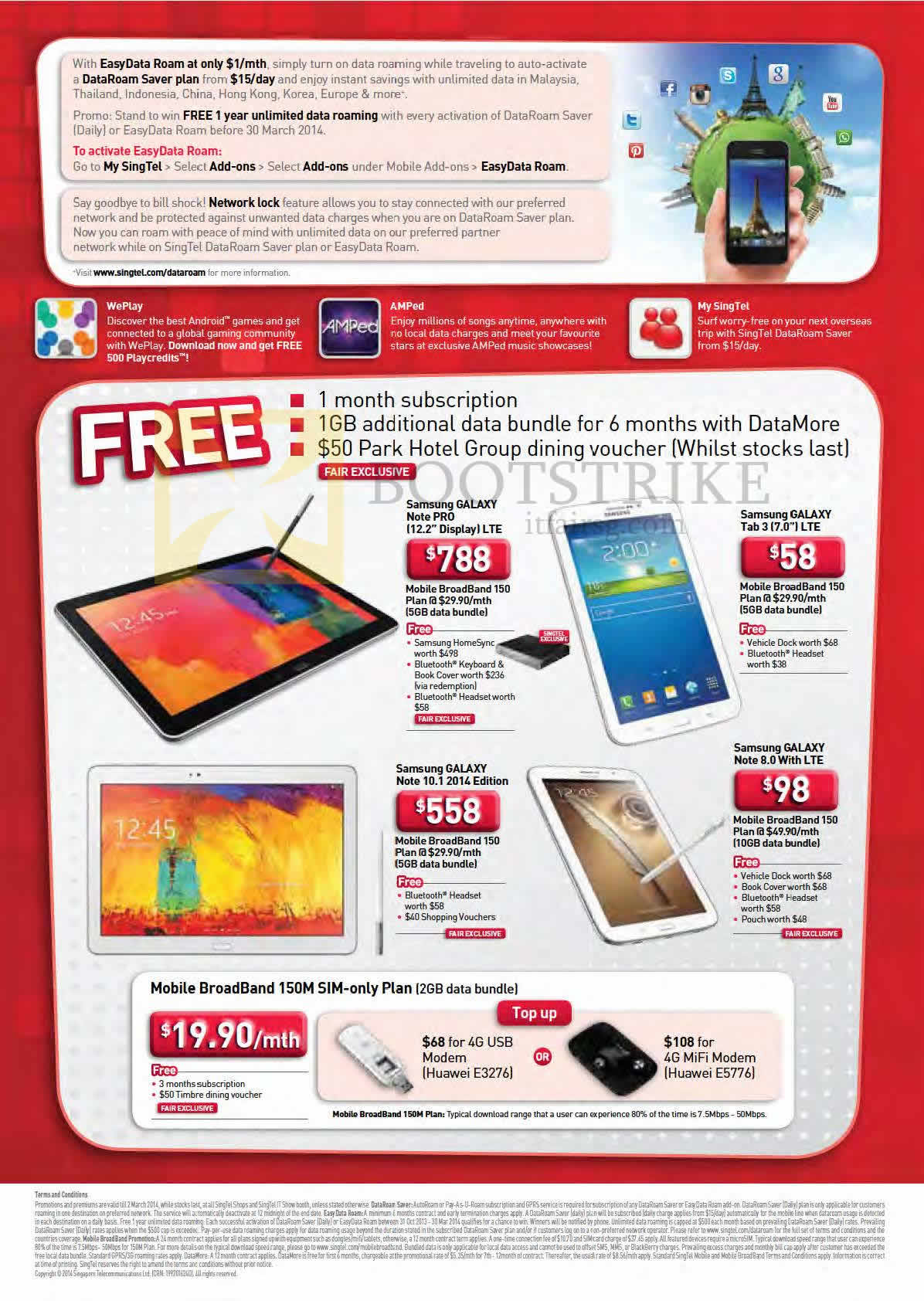 Singtel Mobile Broadband Samsung Galaxy Note Pro Tab 3 70 Voucher 1gb It Show 2014 Price List Image Brochure Of