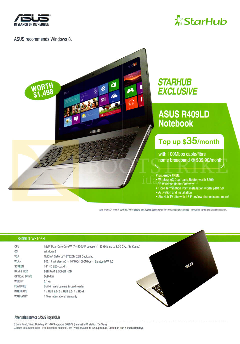 starhub asus notebooks r409ld specifications it show 2014