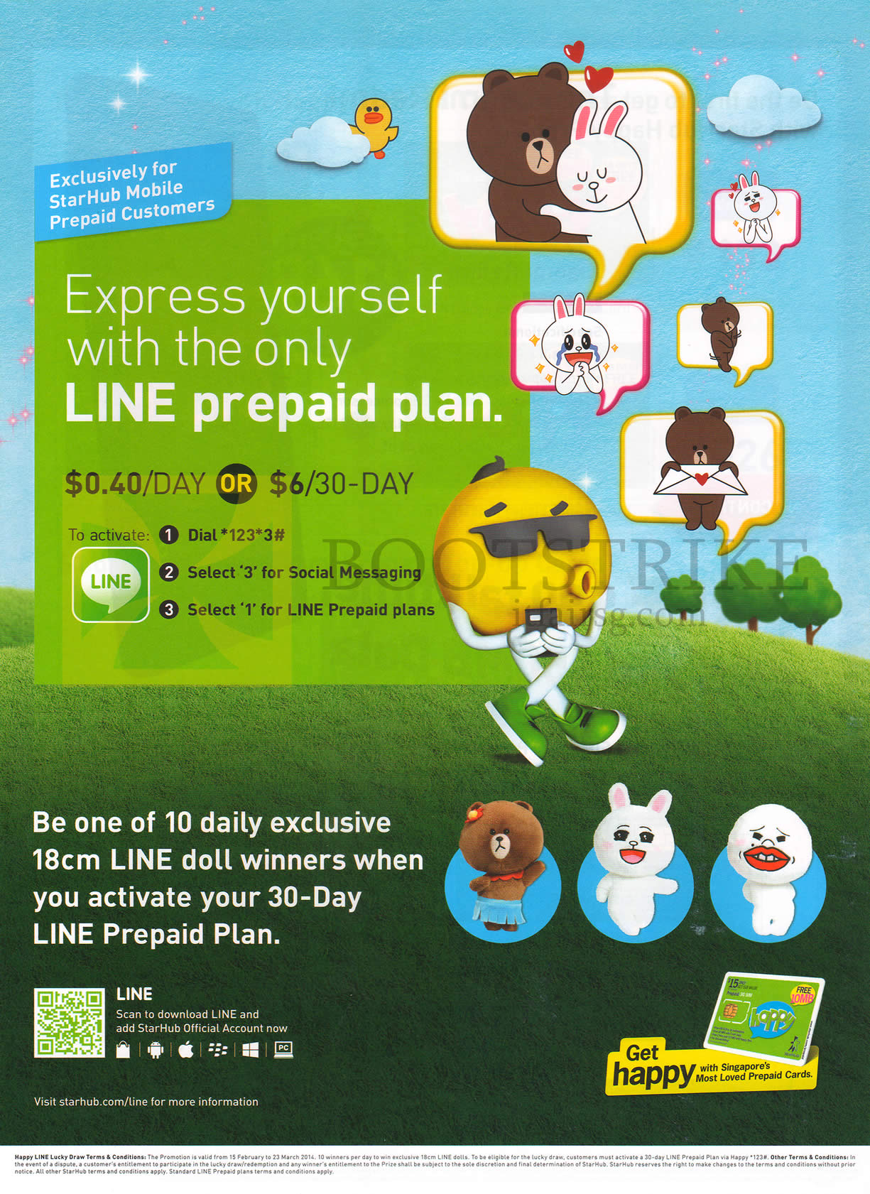 IT SHOW 2014 price list image brochure of Starhub Mobile Prepaid Line Plan