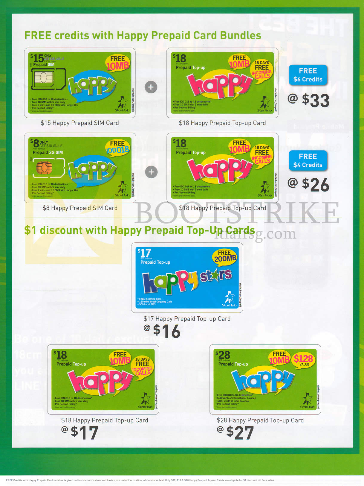 Starhub Prepaid Free Credits With Happy Prepaid Bundles, Top