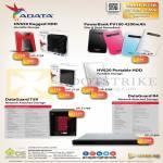 External Storage Adata HV620 HV650 Portable HDD 1TB 2TB Powerbank PV100, DataGuard T5R NAS, R4