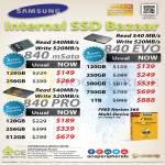 SSD Samsung 840 EVO MSata 120GB 250GB 500GB 750GB 1TB Pro 128GB 256GB 512GB