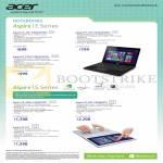 Notebooks Aspire E1-422, 472, 572G, S3-392G, S7-392, S7-191