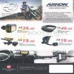 Arkon Smartphone Mount Bicycle, Friction Dashboard, Air Vent, Windshield Suction Pedestal
