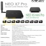 Minix Neo X7 Pro, X5 Mini Pro Media Player