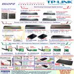TP-Link Networking Gigabit Switches, Wireless Routers, PCI Express Adapters, Kanvus, Life, Note Pad, MyGica USB HDMI, Zippy Keyboard
