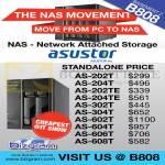 Asustor NAS Storage AS-202T, 204T, 202TE, 204TE, 302T, 304T, 602T, 604T, 606T, 608T