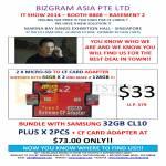 Bizgram MicroSD CompactFlash CF Adapter