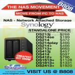 Synology NAS Storage DS213J, 214se, 214, 214Play, 214plus, 713plus, 413J, 414, 412plus, 1513plus, 1813plus, 2413plus