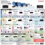 Digital Cameras, Camcorders Powershot G1X, G16, S120, S200, SX50HS, SX 510 HS, SX 280 HS, SX 170 IS, N, A2500, Ixus 155, Selphy CP190, HF G30, HF G 25, HF G10, Legria Mini