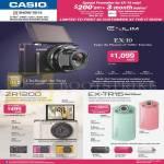 Digital Cameras Exilim EX-10, ZR1200, EX-TR15
