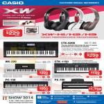 Music Headphones XW-H1 H2 H3, Keyboard CTK-6200, WK-220, CTK-1150, PX-150, PX-780