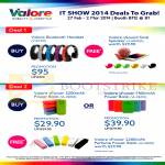 Valore Bluetooth Headsets, Snail Speakers, Power Banks