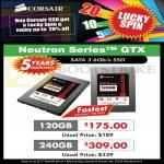 Corsair SSD Neutron Series GTX Sata 3 120GB 240GB