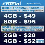 Crucial RAM DDR3 Notebook, Desktop PC