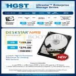 HGST Internal HDD Ultrastar 7K4000, Deskstar NAS 2TB 3TB 4TB