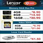 Lexar Memory Stick Duo Pro 4GB 8GB 16GB 32GB, Card Reader