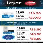 Lexar MicroSD Class 10 16GB 32GB 64GB