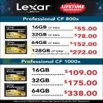 Lexar Professional CF CompactFlash 16GB 32GB 64GB 128GB