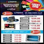 SSD Kingston 5K Crucial M500 SSD, 120GB 240GB 480GB 960GB