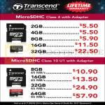 Transcend MicroSDHC Memory Cards