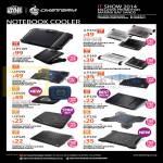 CMStorm Notebook Coolers Notepal R9-NBC-CAAK-GP, XS2K-GP, NPL1-GP, U2PS-GP, U2PK-GP