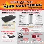 Deals Sound Blaster Roar, Axx 200 Wireless Sound System, Aurvana Live 2 Headset, Sound Blaster ZX