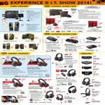 Speakers, Internal Sound Card, External Sound Card, Headsets, Webcam, Evo Tactic3D Fatal1ty Omni Zxr Sound Blaster GigaWorks Inspire SBS