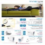 Innergie LifeHub USB Hub, PocketCell Duo Lite Power Bank, MMini AC, DC, 21W Duo USB Charging Kit
