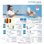 Innergie Power Banks Pocketcell Lite, MMini AC, DC, Car Charging Kit, Magic Cable, Lightning