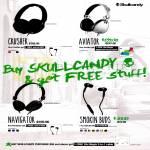 Skullcandy Headphones Crusher, Aviator, Navigator, Smokin Buds