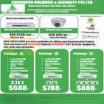 Builders Security Home Surveiliance DVR, Video Recorder, Camera Packages