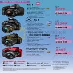 Digital Cameras (No Prices) S1, X-S1, HS50 EXR, S8200