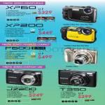Digital Cameras (No Prices) XP60, XP200, F800 EXR, JZ200, T350