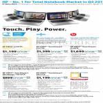 Notebooks Envy J126TX, Envy TouchSmart J127TX, J128TX, K019TX, K022TX