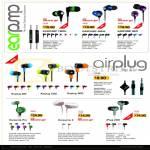 Sonic Gear Earphones Earpump Twirl Snug Neo, Airplug 100 200 300, IPlug 200