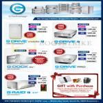 G Technology External Storage Thunderbolt G Drive Mobile, Dock EV, Pro, Raid 1TB 2TB 3TB 4TB 8TB